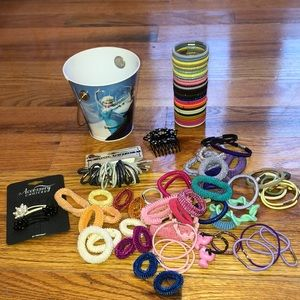 Other - ❣️Over 100 pc Hair Ties & Accessories ❣️